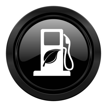 biofuel black icon bio fuel sign photo