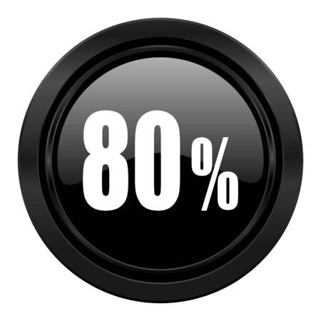 80 percent black icon sale sign photo