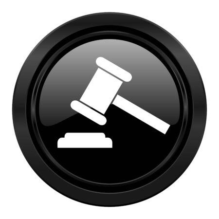 verdict: auction black icon court sign verdict symbol