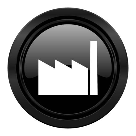 industrialist: factory black icon industry sign manufacture symbol