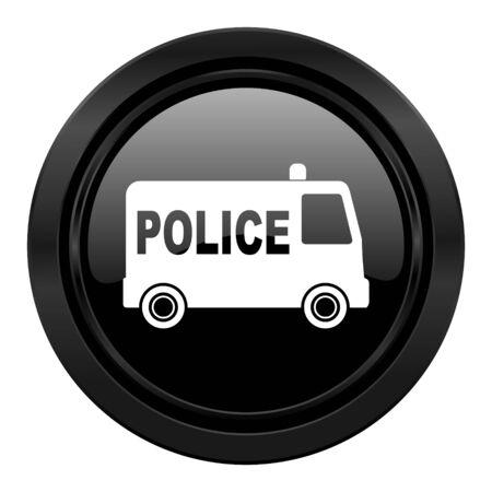 highway patrol: police black icon