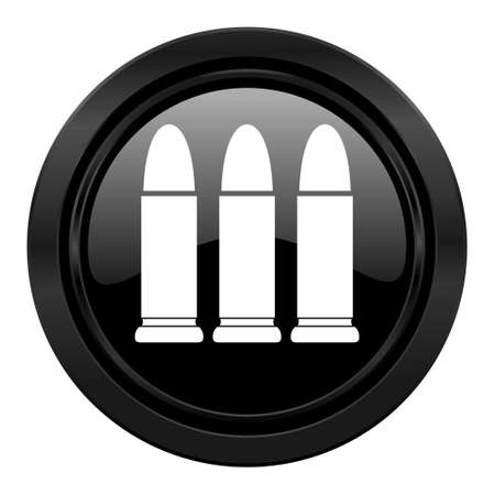 ammunition: ammunition black icon weapoon sign