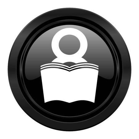 reading room: book black icon reading room sign bookshop symbol