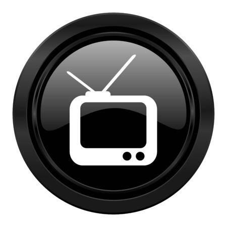 tv black icon television sign photo