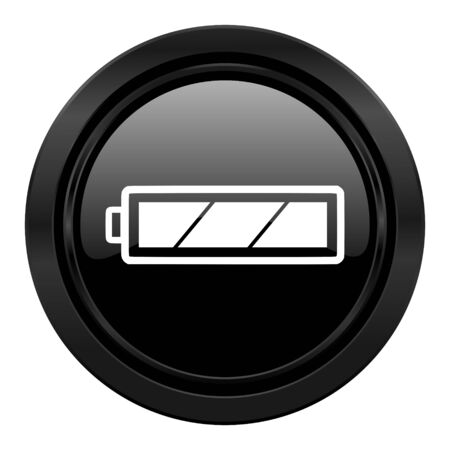 battery black icon charging symbol power sign photo