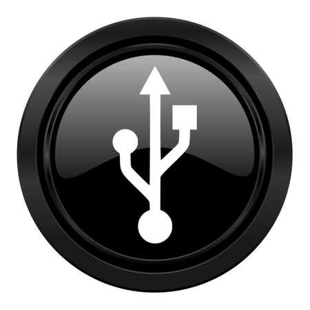 flash memory: usb black icon flash memory sign