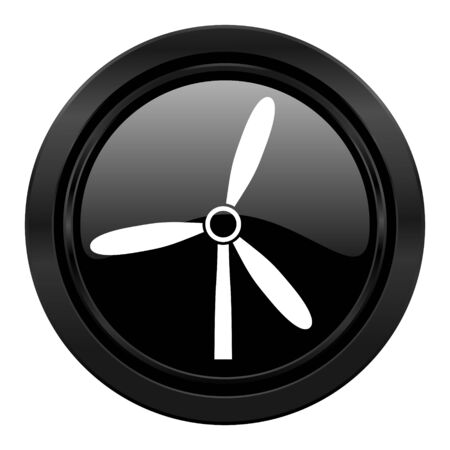 windmill black icon renewable energy sign photo