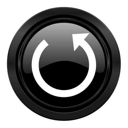 to rotate: rotate black icon reload sign Stock Photo