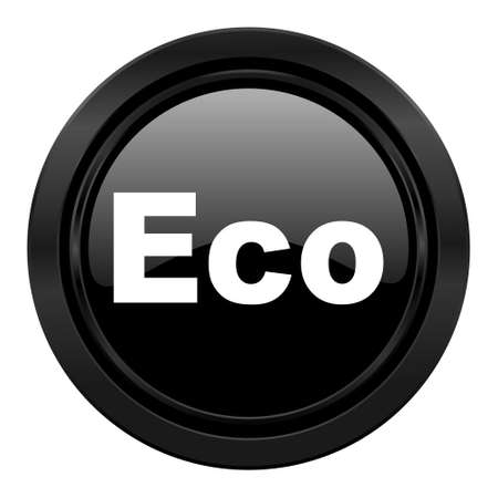 ecological: eco black icon ecological sign