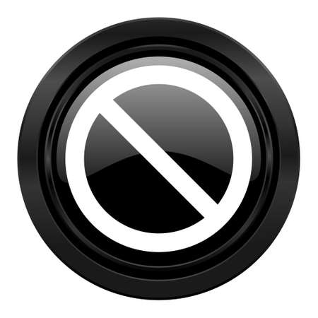 denied: access denied black icon Stock Photo