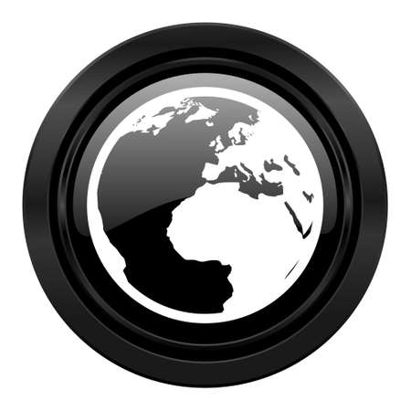 parallels: earth black icon world sign
