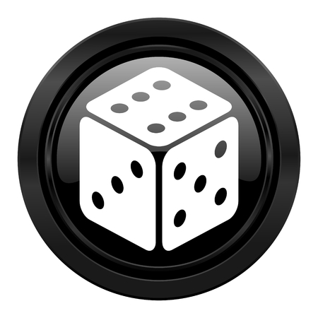 hazard sign: casino black icon hazard sign Stock Photo