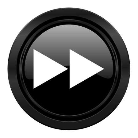 rewind: rewind black icon Stock Photo