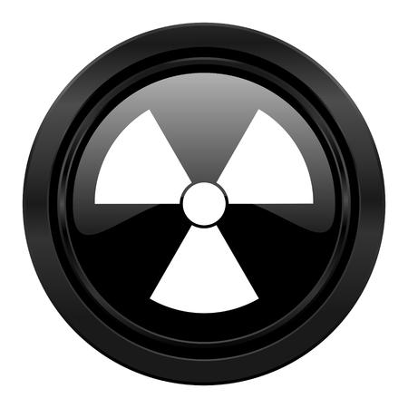 radiation black icon atom sign photo