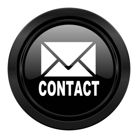 3d contact us: email black icon contact sign
