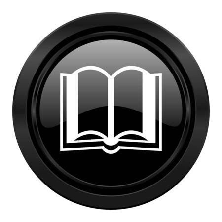 guestbook: book black icon