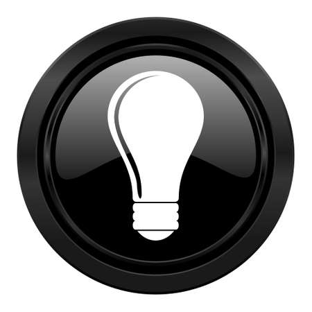 bulb black icon idea sign photo