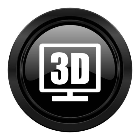 programm: 3d display black icon