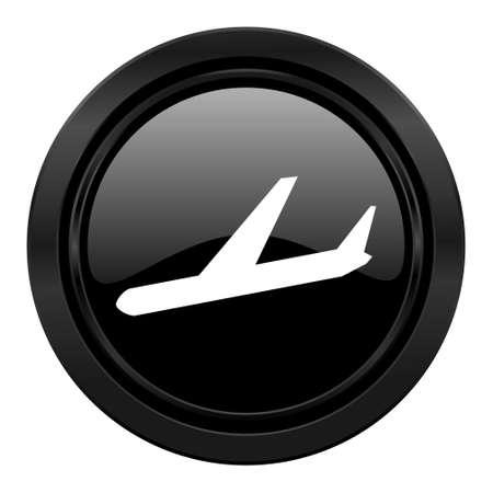 air port: arrivals black icon plane sign