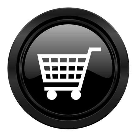 cart black icon shop sign photo