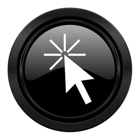 click here: click here black icon Stock Photo