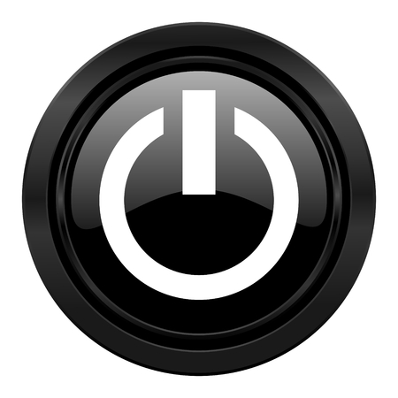 power black icon on off sign photo