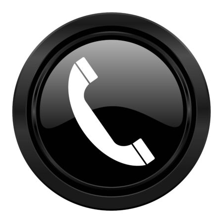 phone black icon telephone sign photo