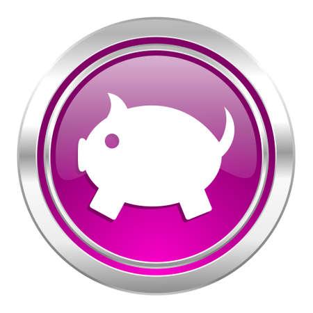 piggy bank violet icon photo