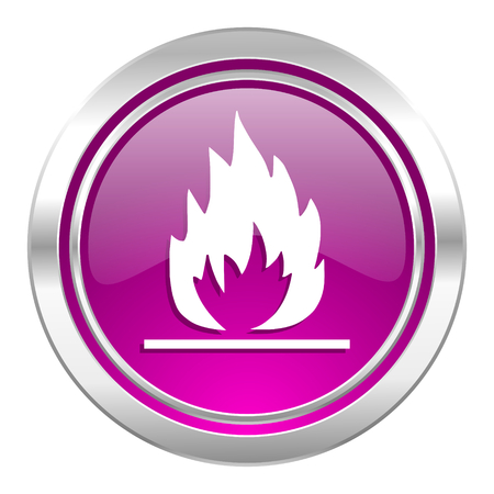 inflammable: flame violet icon