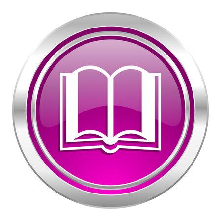 guestbook: book violet icon