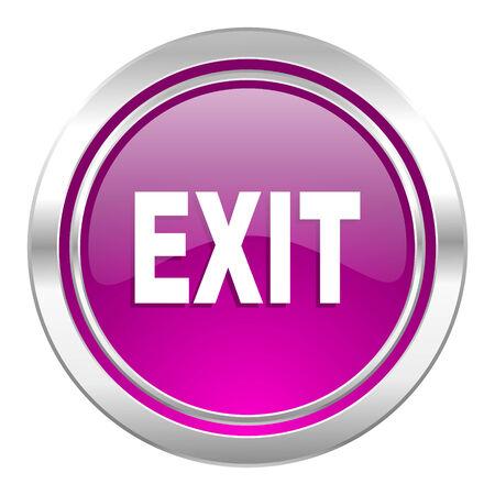 emergency exit label: exit violet icon