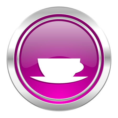 caffe: espresso violet icon caffe cup sign Stock Photo
