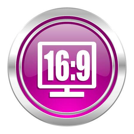 16 9 display: 16 9 display violet icon