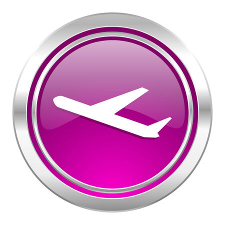 air port: deparures violet icon plane sign