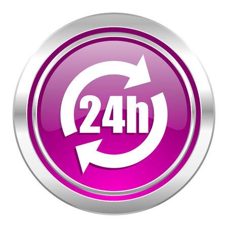 violet icon: 24h violet icon