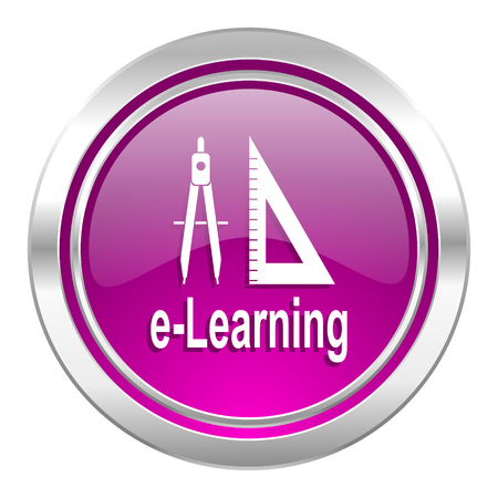 violet icon: learning violet icon Stock Photo