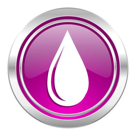 waterdrop: water drop violet icon