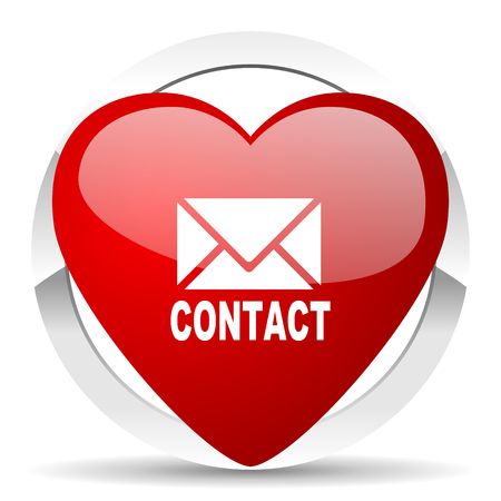 email contact: email valentine icon contact sign