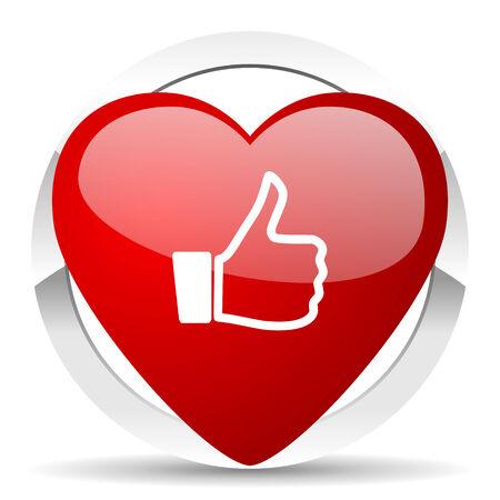 i like: like valentine icon thumb up sign Stock Photo