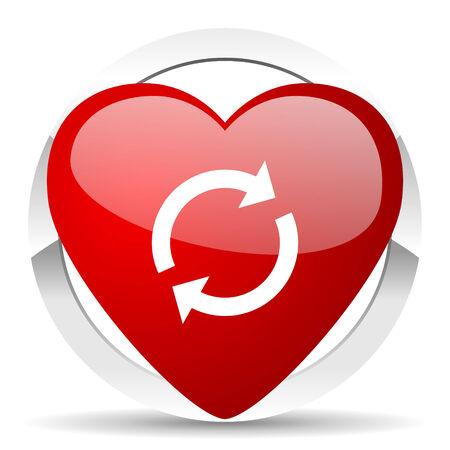 reload valentine icon refresh sign photo