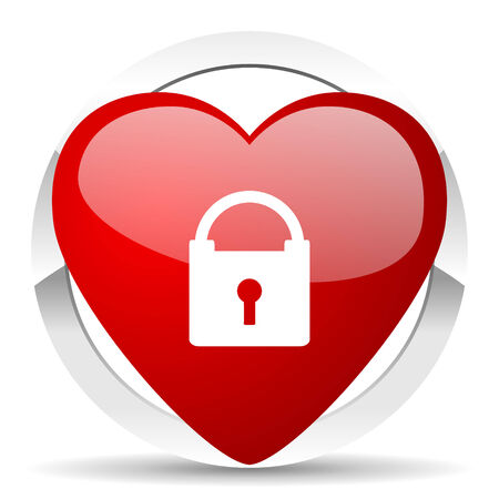 secure: padlock valentine icon secure sign Stock Photo