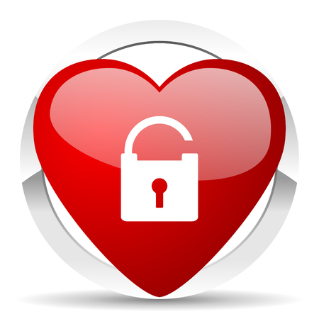 padlock valentine icon secure sign photo