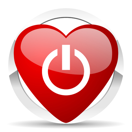 proceed: power valentine icon on off sign