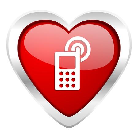 phone valentine icon mobile phone sign photo