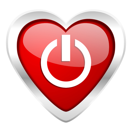 power valentine icon on off sign photo