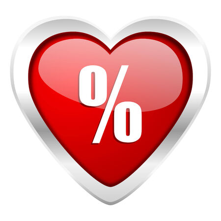 percent valentine icon photo