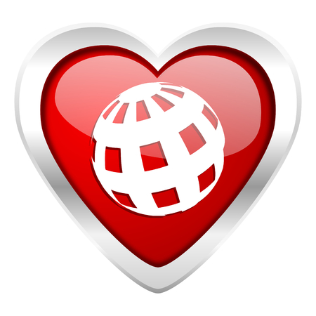 parallels: earth valentine icon Stock Photo