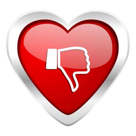 judgement day: dislike valentine icon thumb down sign
