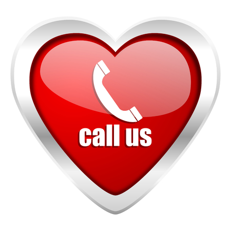 call us valentine icon phone sign photo