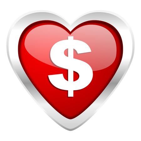 dollar valentine icon us dollar sign photo